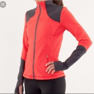 Lululemon Forme Jacket Brushed Love Red/Deep Coral